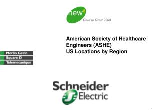American Society of Healthcare Engineers (ASHE)  US Locations by Region