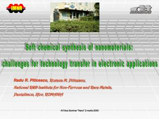 Soft chemical synthesis of nanomaterials:  challenges for technology transfer in electronic applications