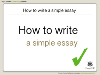 How to write a simple essay | Essay writing help