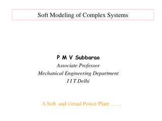 Soft Modeling of Complex Systems
