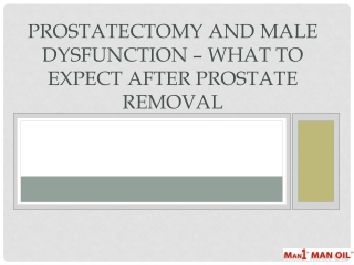 Prostatectomy and Male Dysfunction