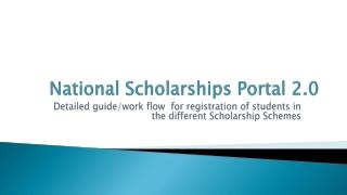National Scholarships Portal 2.0