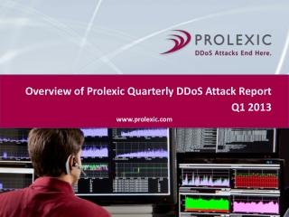 Prolexic Quarterly DDoS Attack Report Q1 2013