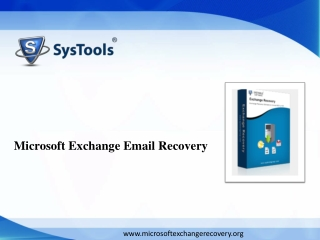 Microsoft Exchange disaster email recovery software