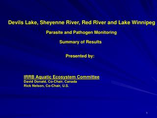 Devils Lake, Sheyenne River, Red River and Lake Winnipeg
