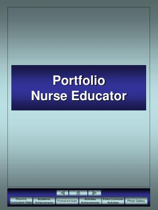 Portfolio Nurse Educator