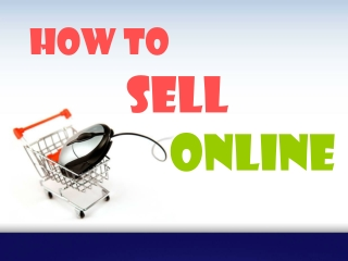 `How to sell online