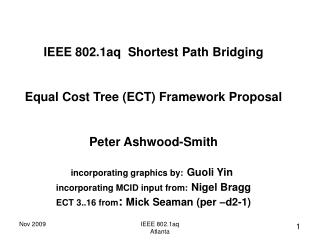 IEEE 802.1aq  Shortest Path Bridging Equal Cost Tree (ECT) Framework Proposal