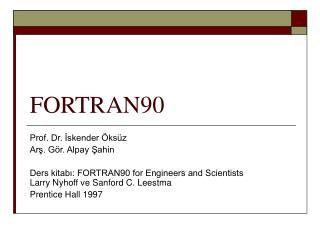 FORTRAN90