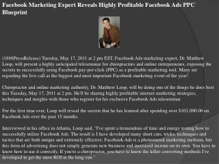 facebook marketing expert reveals highly profitable facebook