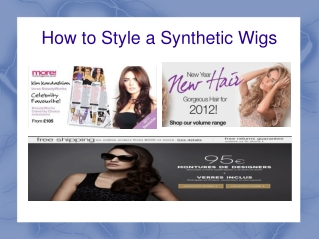 How to Style a Synthetic Wigs
