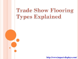 Trade Show Flooring Types Explained
