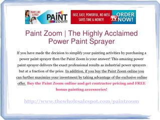 paint zoom - a fraction of the price with no sacrifice