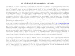 How to Find the proper SEO Company for