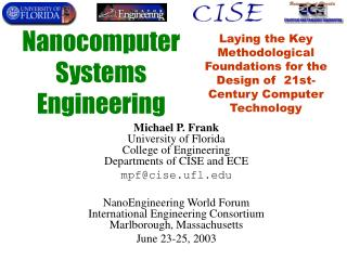 Nanocomputer  Systems  Engineering