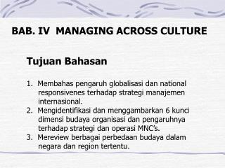 BAB. IV  MANAGING ACROSS CULTURE