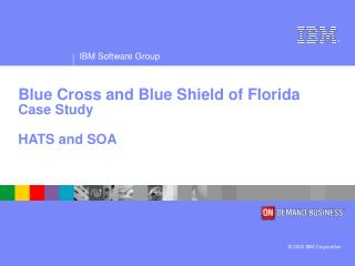 Blue Cross and Blue Shield of Florida Case Study HATS and SOA