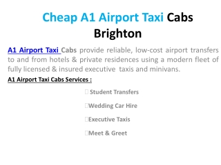 Cheap a1 airport taxi cabs brighton