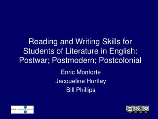 Reading and Writing Skills for Students of Literature in English: Postwar; Postmodern; Postcolonial