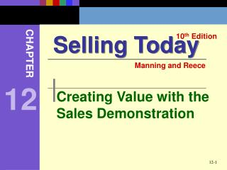 Creating Value with the Sales Demonstration