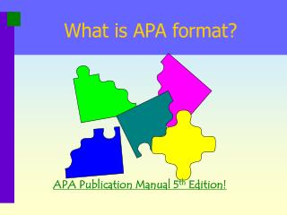 What is APA format?