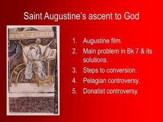 Saint Augustine's ascent to God