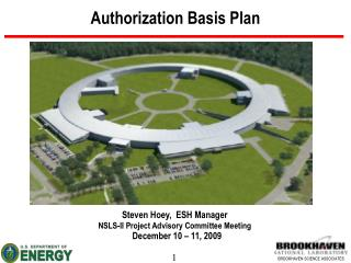 Authorization Basis Plan