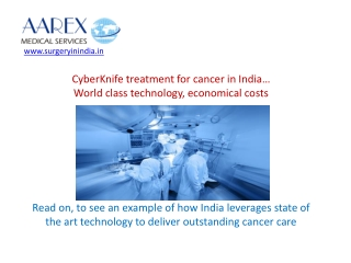 Cyberknife Treatment for Cancer in India