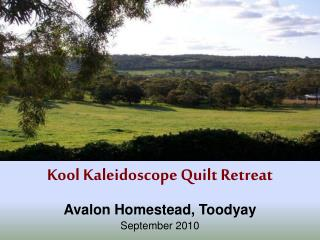 Kool Kaleidoscope Quilt Retreat