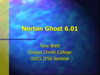 Norton Ghost 6.01