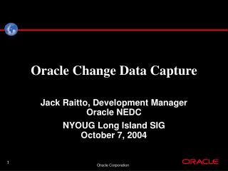 Oracle Change Data Capture