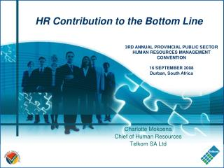 HR Contribution to the Bottom Line