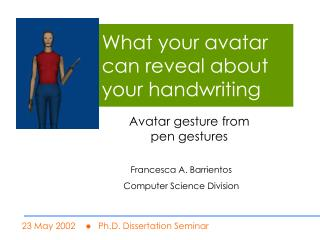 What your avatar can reveal about your handwriting