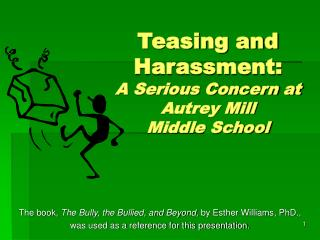 Teasing and Harassment: A Serious Concern at Autrey Mill  Middle School