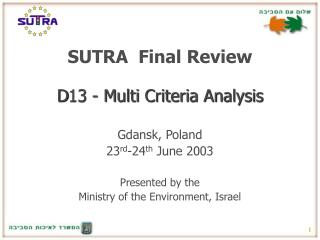 SUTRA  Final Review