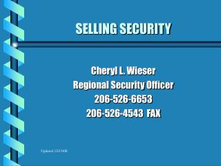 SELLING SECURITY