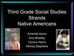 Third Grade Social Studies Strands Native Americans