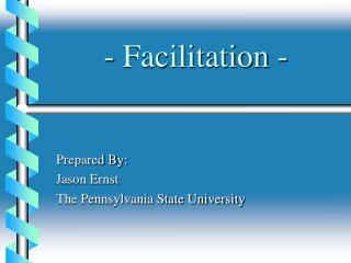 - Facilitation -