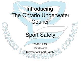Introducing: The Ontario Underwater Council Sport Safety