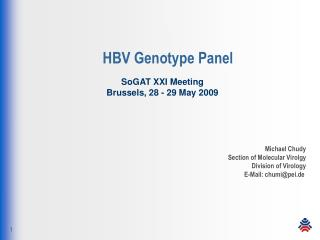 HBV Genotype Panel