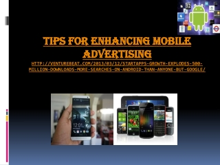 Tips for enhancing mobile advertising