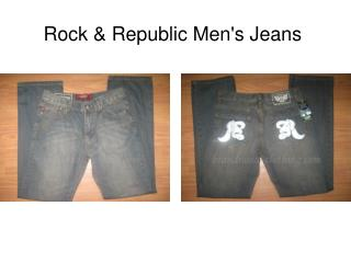 Cheap Rock & Republic Mens Jeans