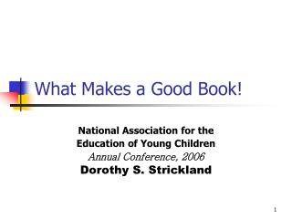 What Makes a Good Book