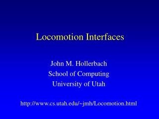 Locomotion Interfaces