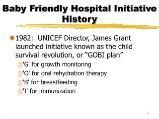 Baby Friendly Hospital Initiative History