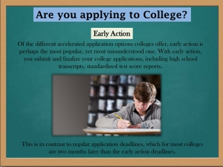 Are you applying to College?