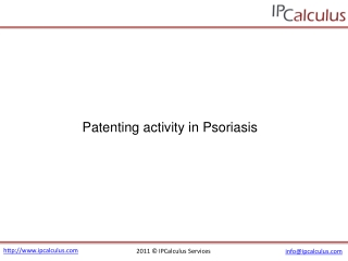 ipcalculus - psoriasis patenting activity