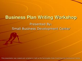Business Plan Writing Workshop