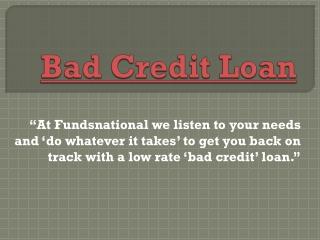 Bad Credit Loan | Mortgage Arrears