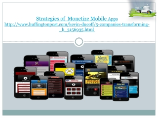 Monetize mobile apps